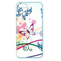 Butterfly Vector Art Apple Seamless Iphone 5 Case (color)