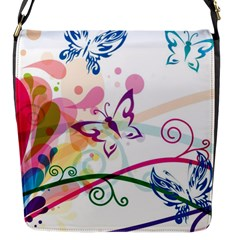 Butterfly Vector Art Flap Messenger Bag (s) by BangZart