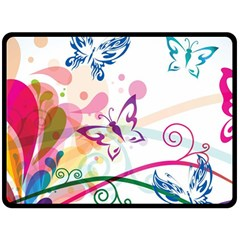 Butterfly Vector Art Double Sided Fleece Blanket (large)  by BangZart