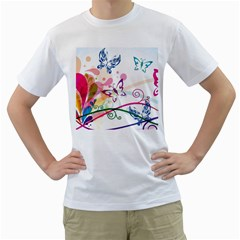 Butterfly Vector Art Men s T Shirt (white)