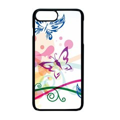 Butterfly Vector Art Apple Iphone 7 Plus Seamless Case (black)