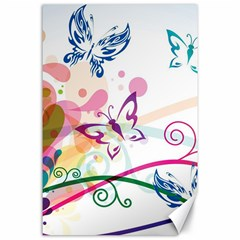 Butterfly Vector Art Canvas 24  X 36