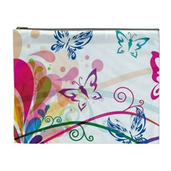 Butterfly Vector Art Cosmetic Bag (xl)