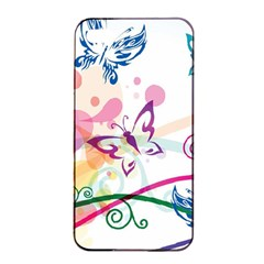 Butterfly Vector Art Apple Iphone 4/4s Seamless Case (black)