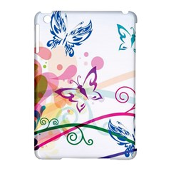Butterfly Vector Art Apple Ipad Mini Hardshell Case (compatible With Smart Cover)