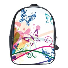 Butterfly Vector Art School Bags (xl)  by BangZart