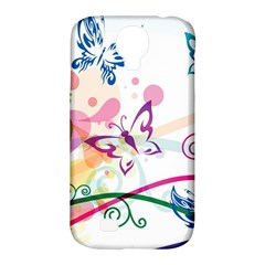 Butterfly Vector Art Samsung Galaxy S4 Classic Hardshell Case (pc+silicone)