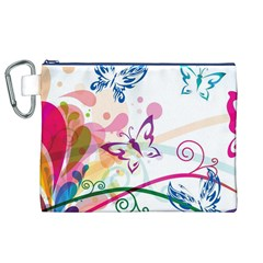 Butterfly Vector Art Canvas Cosmetic Bag (xl) by BangZart