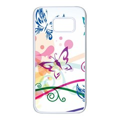Butterfly Vector Art Samsung Galaxy S7 White Seamless Case