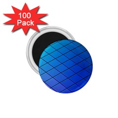 Blue Pattern Plain Cartoon 1 75  Magnets (100 Pack)