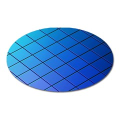 Blue Pattern Plain Cartoon Oval Magnet by BangZart