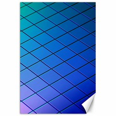 Blue Pattern Plain Cartoon Canvas 20  X 30