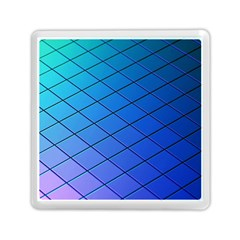 Blue Pattern Plain Cartoon Memory Card Reader (square)