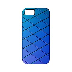 Blue Pattern Plain Cartoon Apple Iphone 5 Classic Hardshell Case (pc+silicone)