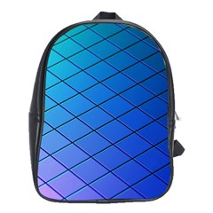 Blue Pattern Plain Cartoon School Bags (xl)