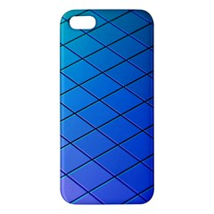 Blue Pattern Plain Cartoon Apple Iphone 5 Premium Hardshell Case