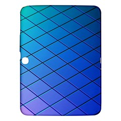 Blue Pattern Plain Cartoon Samsung Galaxy Tab 3 (10 1 ) P5200 Hardshell Case