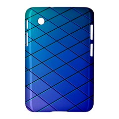 Blue Pattern Plain Cartoon Samsung Galaxy Tab 2 (7 ) P3100 Hardshell Case