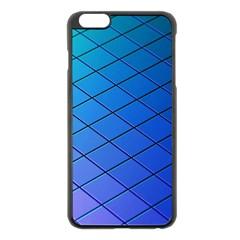 Blue Pattern Plain Cartoon Apple Iphone 6 Plus/6s Plus Black Enamel Case