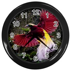 Cendrawasih Beautiful Bird Of Paradise Wall Clocks (black)