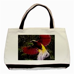 Cendrawasih Beautiful Bird Of Paradise Basic Tote Bag (two Sides) by BangZart