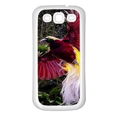 Cendrawasih Beautiful Bird Of Paradise Samsung Galaxy S3 Back Case (white)