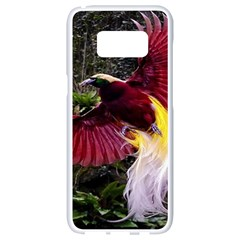 Cendrawasih Beautiful Bird Of Paradise Samsung Galaxy S8 White Seamless Case