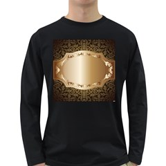 Floral 3 Long Sleeve Dark T Shirts