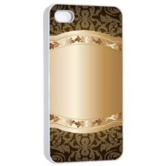 Floral 3 Apple Iphone 4/4s Seamless Case (white)