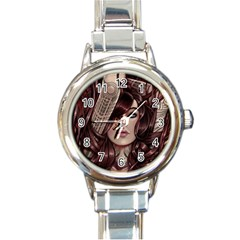 Beautiful Women Fantasy Art Round Italian Charm Watch