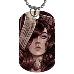 Beautiful Women Fantasy Art Dog Tag (one Side) by BangZart