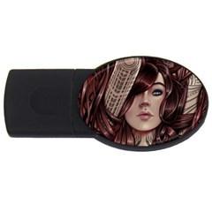 Beautiful Women Fantasy Art Usb Flash Drive Oval (2 Gb)