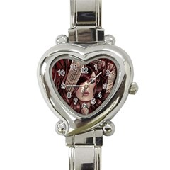 Beautiful Women Fantasy Art Heart Italian Charm Watch