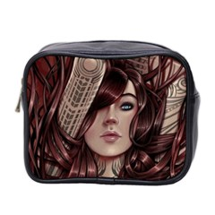 Beautiful Women Fantasy Art Mini Toiletries Bag 2 Side