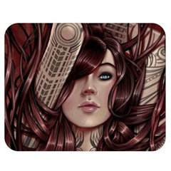 Beautiful Women Fantasy Art Double Sided Flano Blanket (medium)  by BangZart