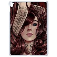 Beautiful Women Fantasy Art Apple Ipad Pro 9 7   White Seamless Case