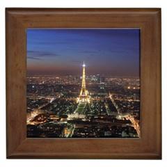 Paris At Night Framed Tiles