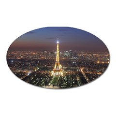 Paris At Night Oval Magnet