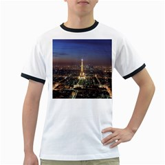 Paris At Night Ringer T Shirts