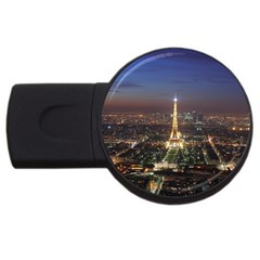 Paris At Night Usb Flash Drive Round (4 Gb)