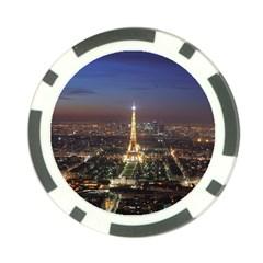 Paris At Night Poker Chip Card Guard