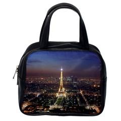 Paris At Night Classic Handbags (one Side)