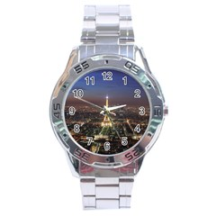 Paris At Night Stainless Steel Analogue Watch