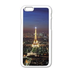 Paris At Night Apple Iphone 6/6s White Enamel Case