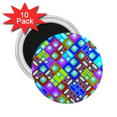 Pattern Factory 32b 2 25  Magnets (10 Pack)  by MoreColorsinLife