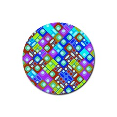 Pattern Factory 32b Rubber Coaster (round)  by MoreColorsinLife