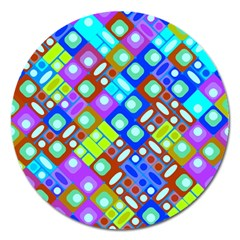 Pattern Factory 32b Magnet 5  (round) by MoreColorsinLife