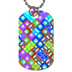 Pattern Factory 32b Dog Tag (one Side) by MoreColorsinLife