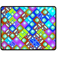 Pattern Factory 32b Double Sided Fleece Blanket (medium)  by MoreColorsinLife