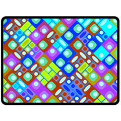 Pattern Factory 32b Double Sided Fleece Blanket (large)  by MoreColorsinLife